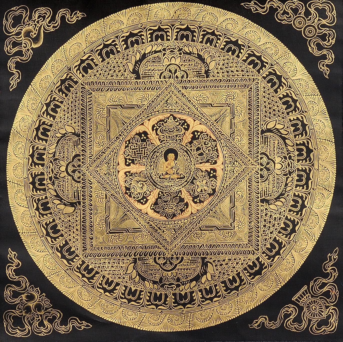 The Buddha Mandala with Eight Auspicious Symbols