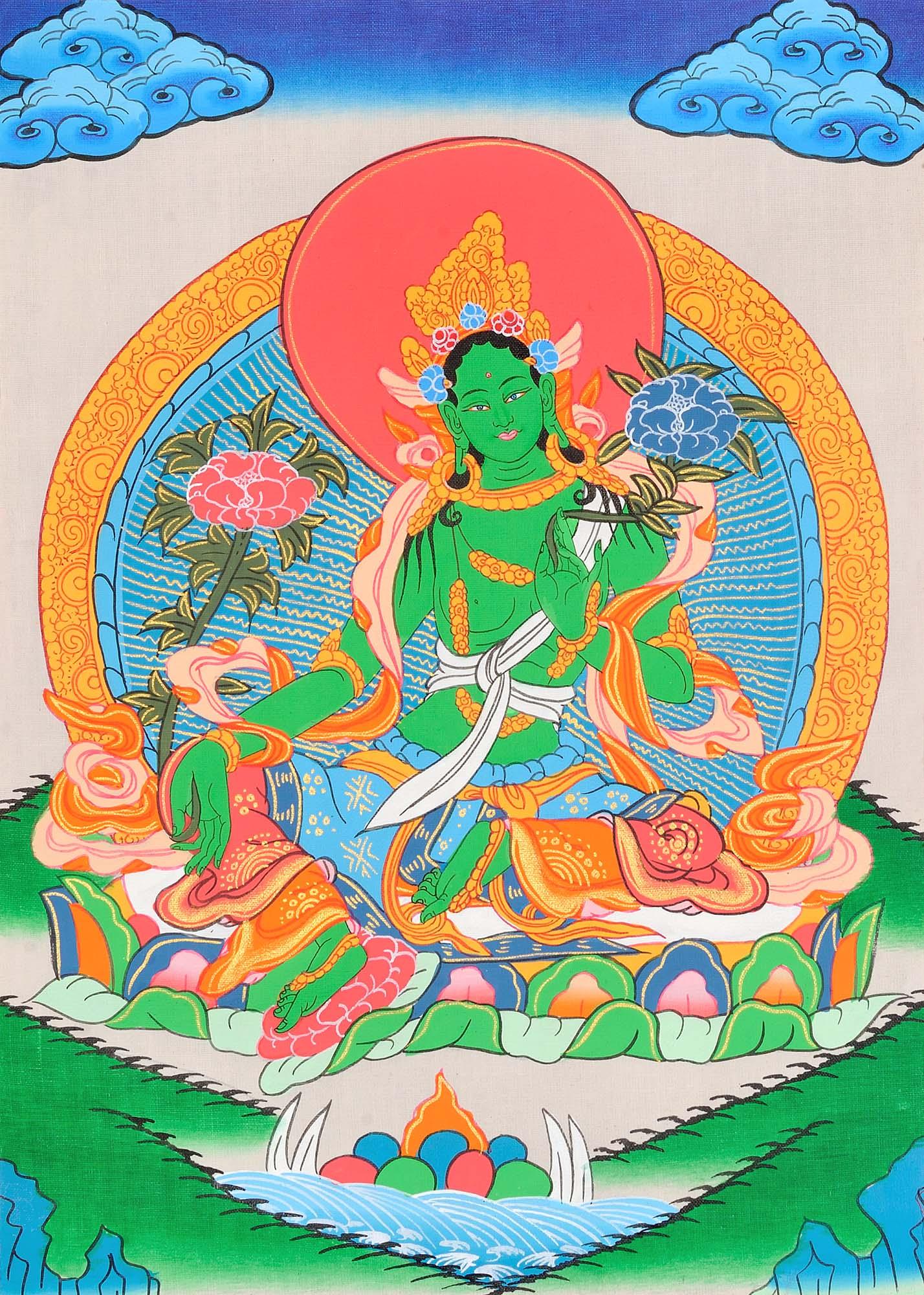 зеленая тара в буддизме картинки всяком случае