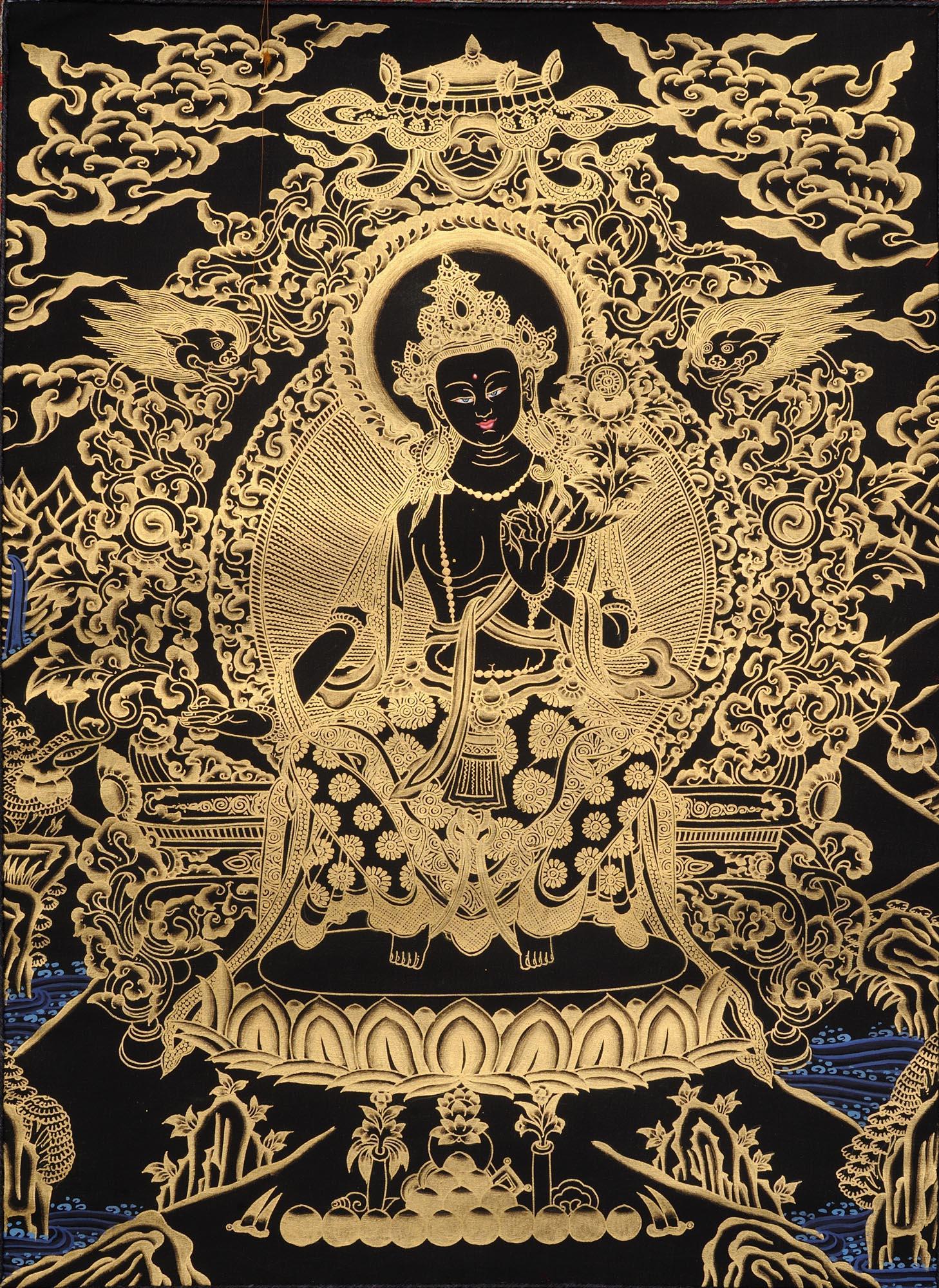 tibetan buddhist goddess maitreya buddha