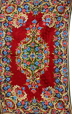 Finely Embroidered Asana Mat