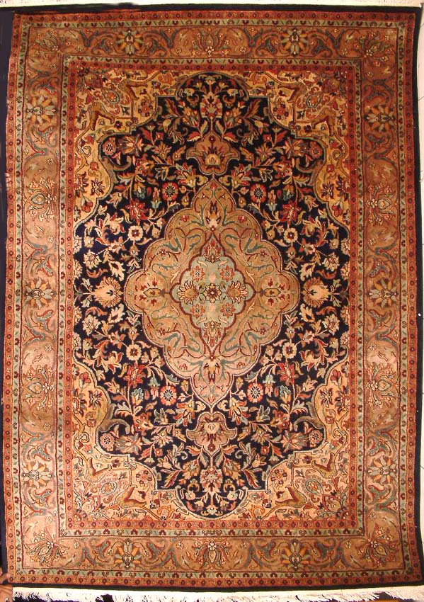 oriental carpet inspired by medieval aesthetics