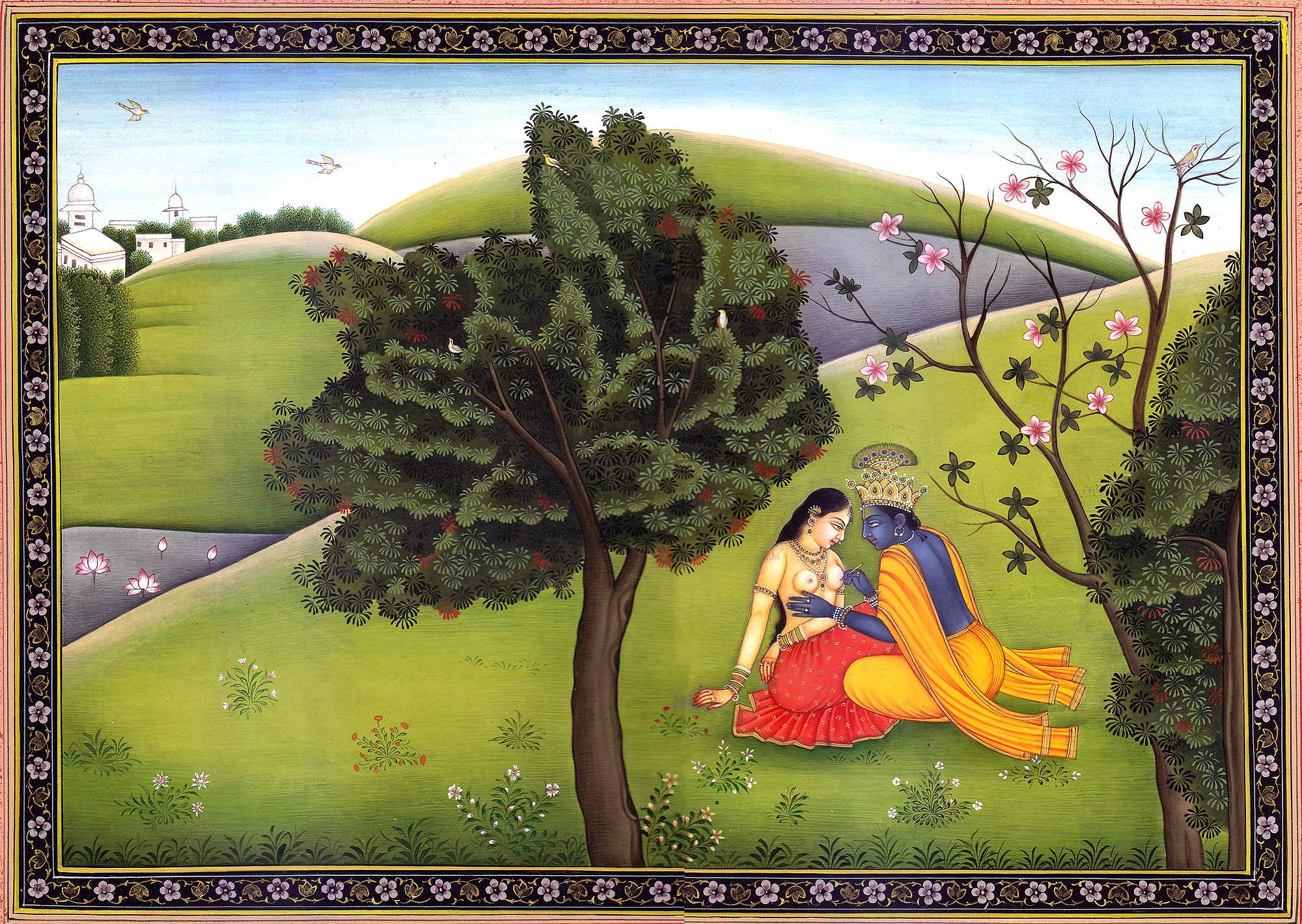Krishna Paints Radha S