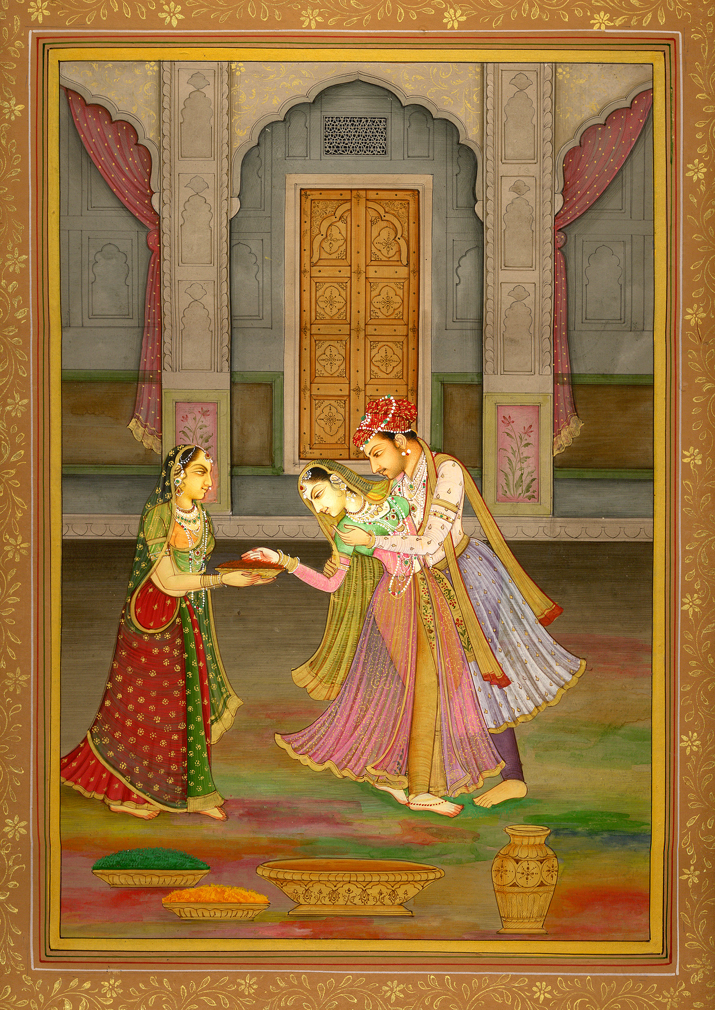Prince Enjoying Holi With Colours And His Sweet Heart