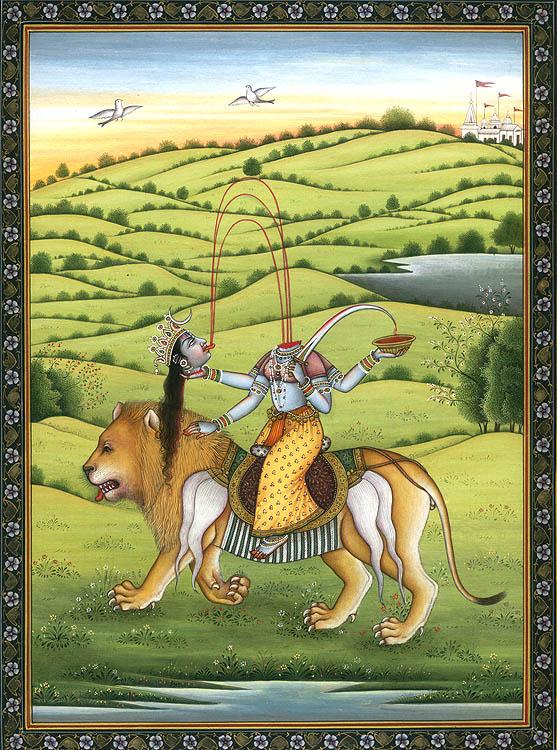 Aninimal Book: Mahavidya Chinnamasta Riding Lion