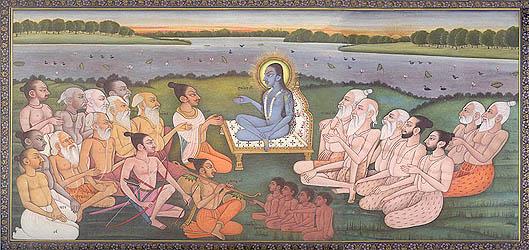 Shukadev Ji Narrating The Bhagavata Purana to King Parikshit