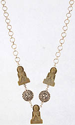 Three Preaching Buddhas (Carved in Stone) Necklace