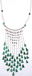 Gemstone Chandelier Necklace (Garnet Rose Quartz, Jade Aventurine)