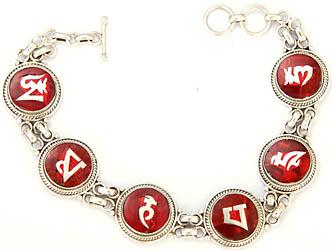 Om Mani Padma Hum Inlay Bracelet