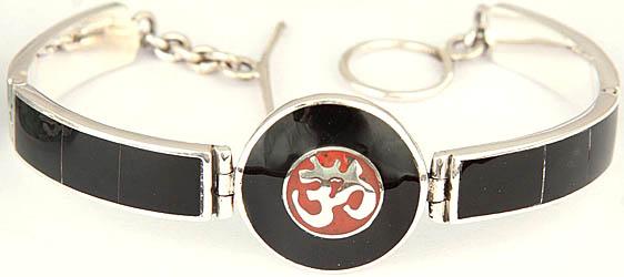 Om (AUM) Inlay Bracelet