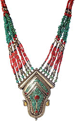 Coral and Turquoise Superfine Necklace