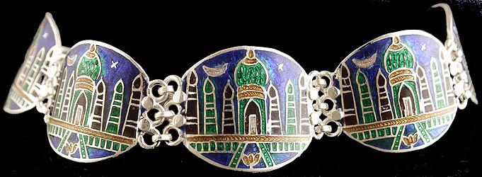 Taj Mahal Meenakari Bracelet