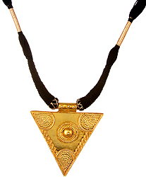 Yoni Necklace with Black Cord