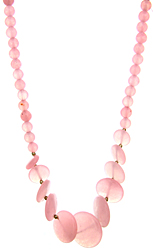 Pink Chalcedony Beaded Necklace