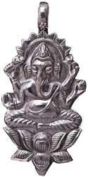 Lord Ganesha Seated on Lotus (Pendant)