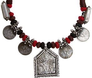 Goddess Durga Cord Necklace