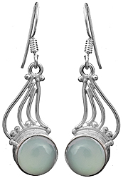 Sky Blue Chalcedony Earrings