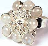 Rainbow Moonstone Bunch Ring