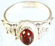 Amber Finger Ring