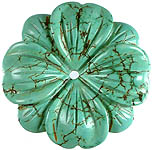 Carved Turquoise Flowers (Price Per Piece)