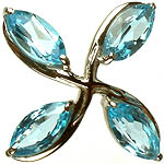 Faceted Blue Topaz Marquis Pendant