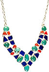 Gemstone Necklace (Lapis Lazuli, Coral, and Turquoise)