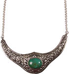 Nepalese Handcarved Turquoise Fine Necklace