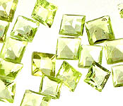 Peridot 3 X 3 mm Size Square (Price Per 20 Pcs)
