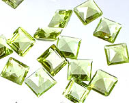 Peridot mm Squares (Price Per 8 Pieces)