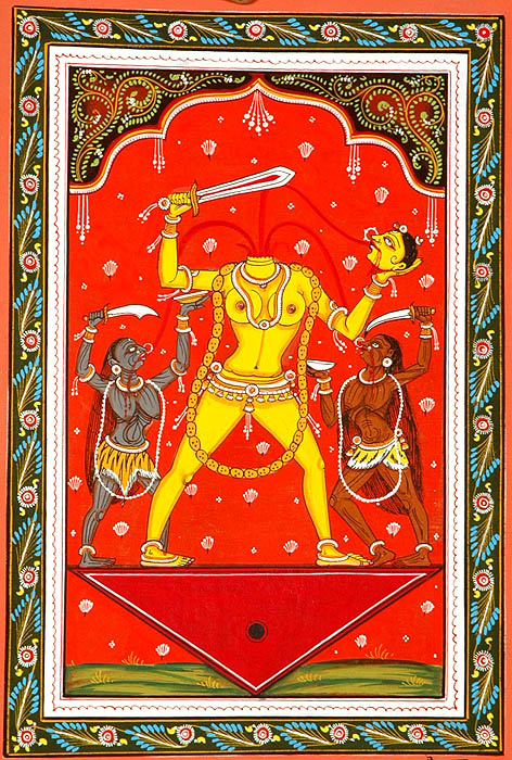 Chinnamasta the Goddess who cuts off her Own Head Ten