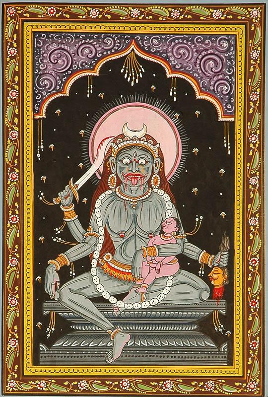 Goddess Chamunda Shodash Matrikas