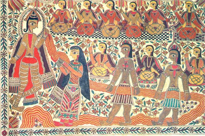 Krishna Helps Draupadi