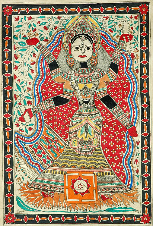 Matangi Maa One of the Mahavidya Tantric Goddess s - Goddess Vidya
