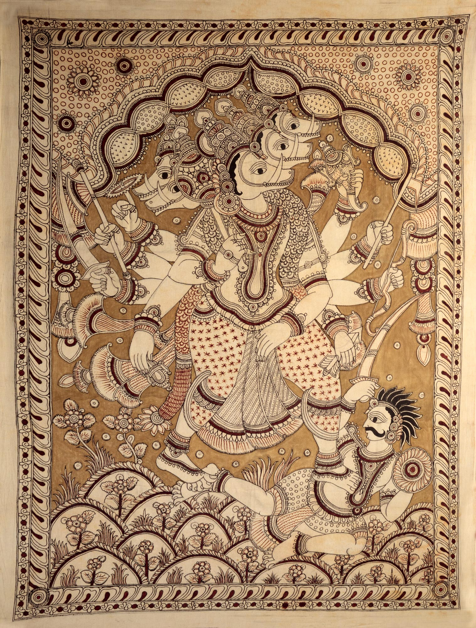 Panchamukhi Hanuman Killing a Demon - photo#31