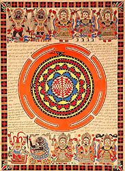 The Ten Mahavidyas with Serpent Coiled Shri Yantra