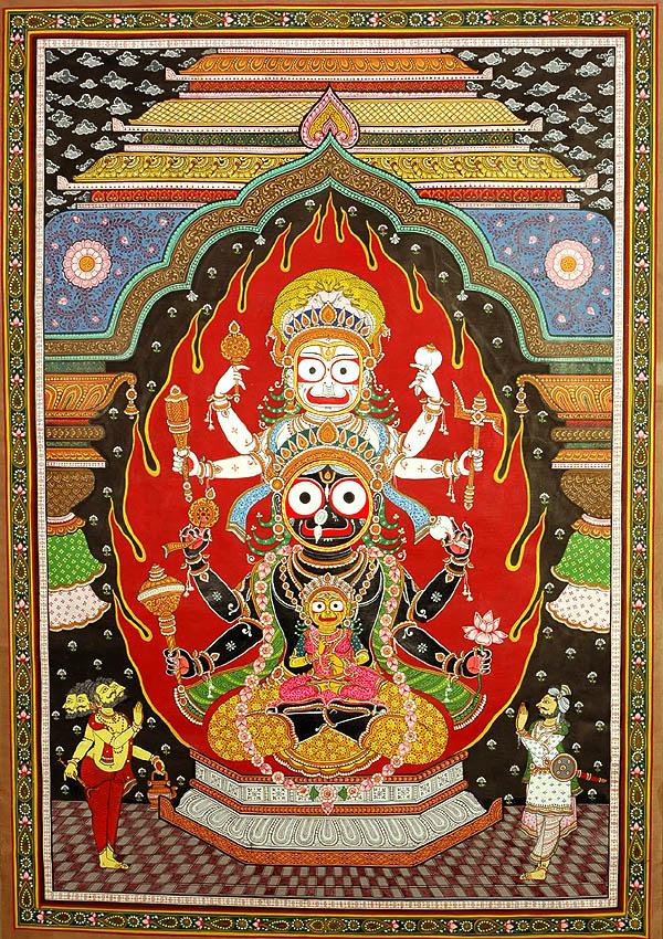 The Trinity Of Balarama Subhadra And Krishna At The