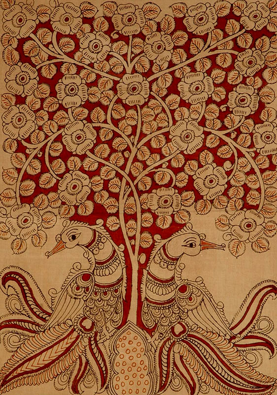 Tree Of Life With Peacock Pair