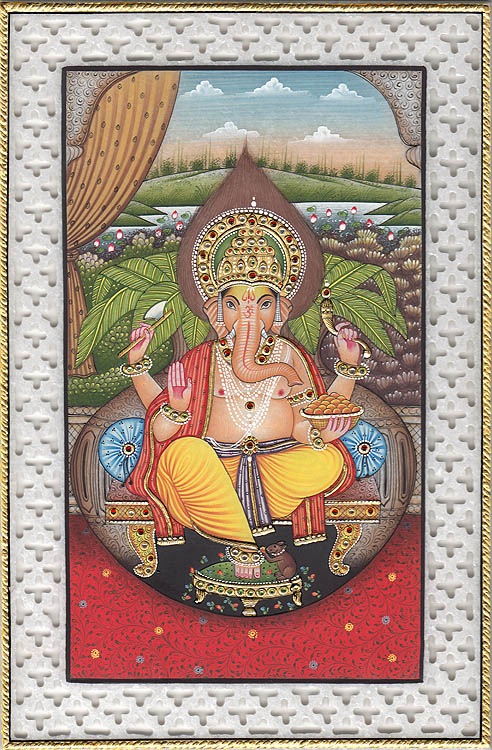 Lord Ganesha with Lattice