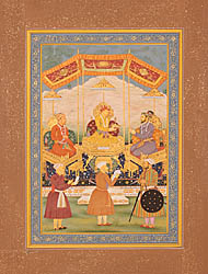 Akbar Handing Over to Shahjahan the Mughals' Dynastic Crown