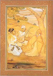 The Vaishnava Meets the Sufi, as Akbar Looks On