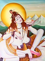 Lord Shiva Relieving the World of Its Poison