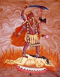Manifestation of Goddess Kali as Tara