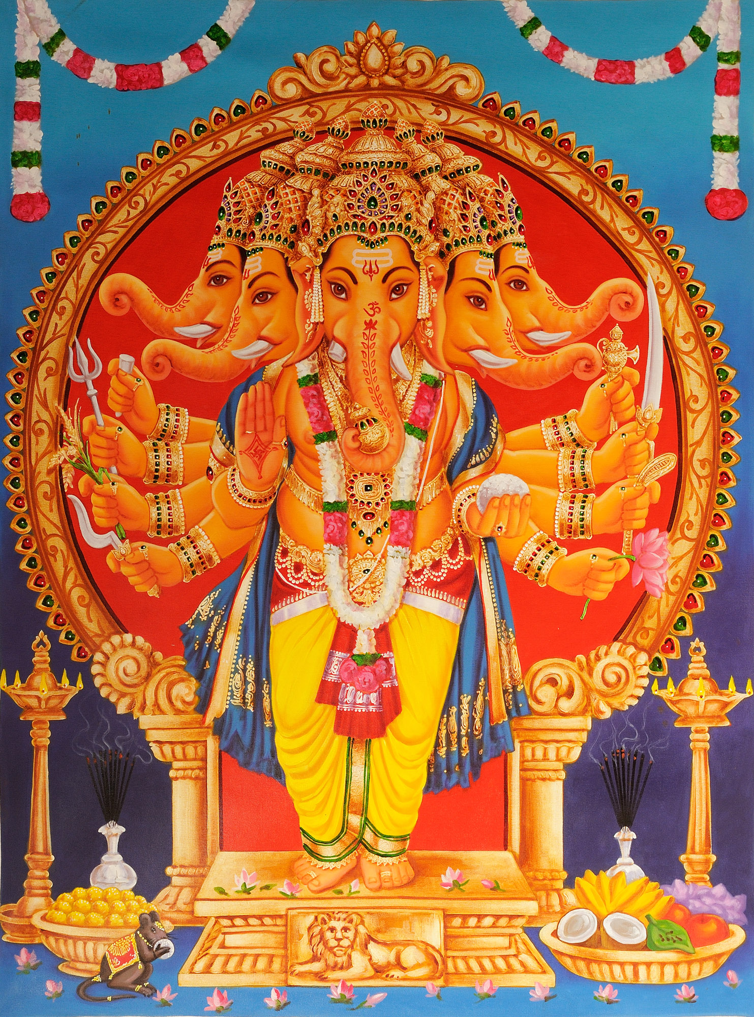 Five-Headed Lord Ganesha - photo#30