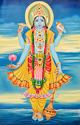 The Blue-Hued Beautiful Lord Vishnu