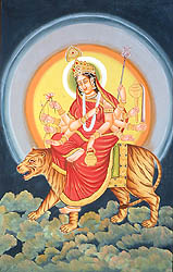 Navadurga - The Nine Forms of Goddess Durga - CHANDRAGHANTA (The Third)