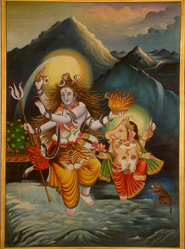 Shiva and Ganesha