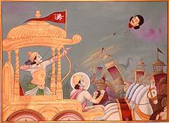 Arjuna Kills Jayadratha (From the Mahabharata)