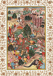 A Folio Illustrating an Episode from the Baburnama