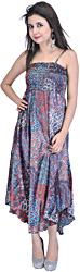 Passion Purple Printed Noodle-Strap Summer Dress