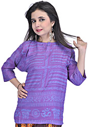 Kurti Top with Sanatan Dharma Mantra