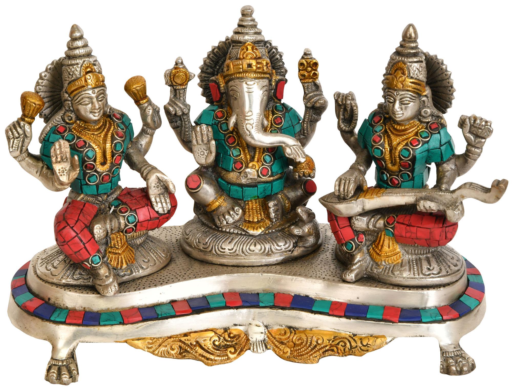 большое блюдо фотографии статуэток индийских богов нее